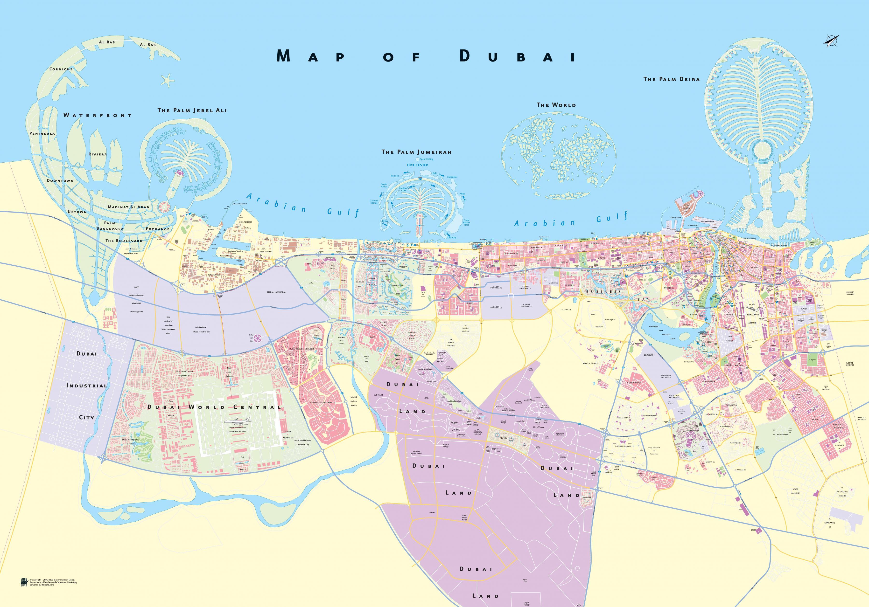 Dubai area map map of dubai area united arab emirates map of dubai area gumiabroncs Images