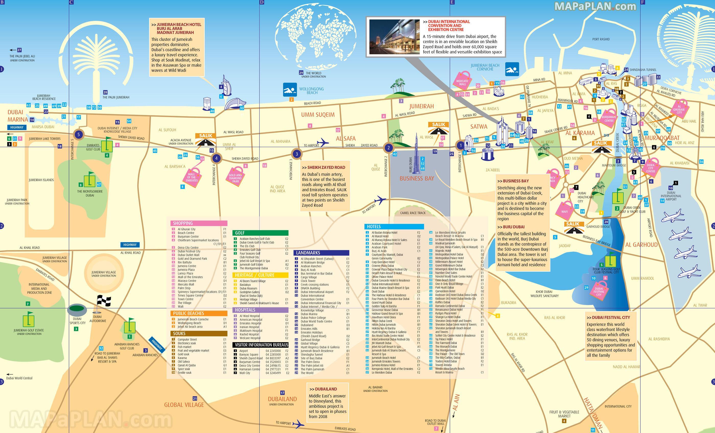 tourist map of dubai. dubai tourist map  tourist map of dubai (united arab emirates)