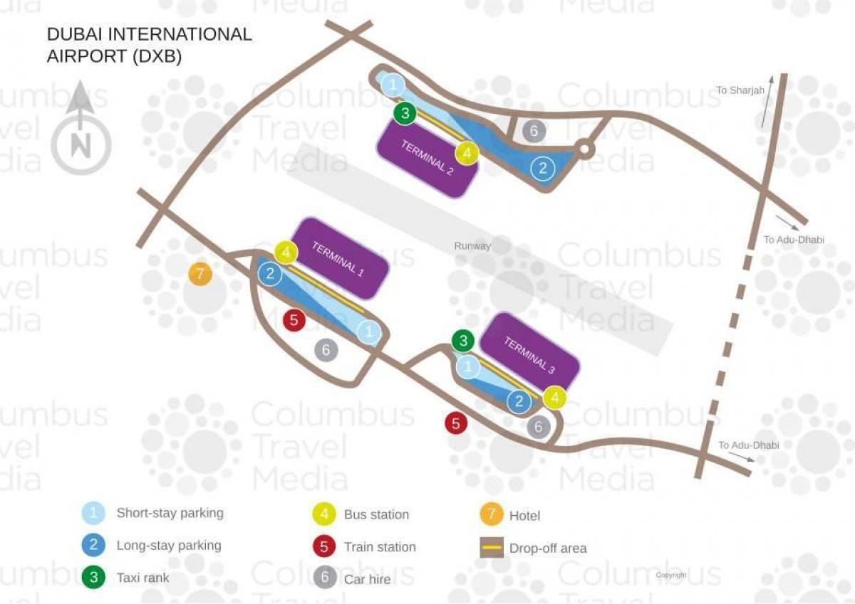 Dubain terminaalit kartta
