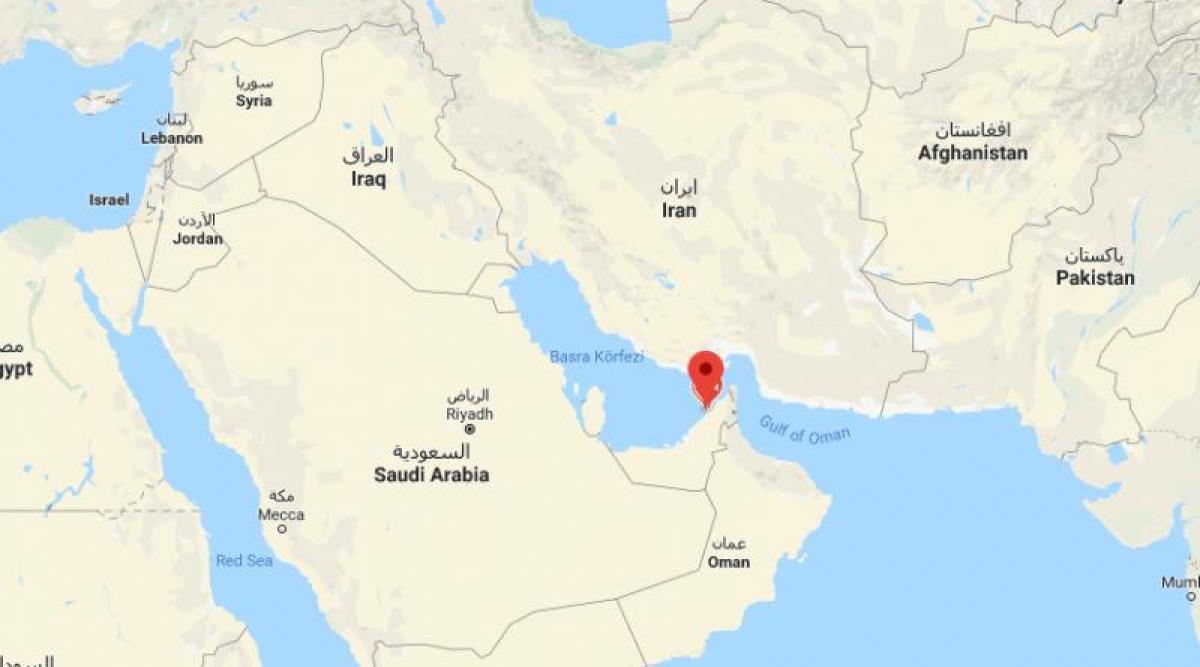 Dubai on world map - Location of Dubai on world map (United ...