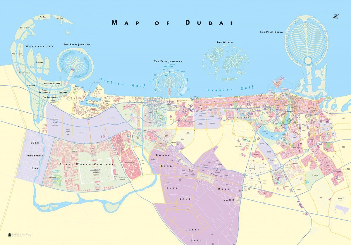 Dubai road map Road map of Dubai United Arab Emirates