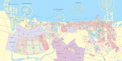 Dubai map - Maps Dubai (United Arab Emirates)